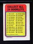 1970 Topps Booklets #4  Walt Williams  Back Thumbnail
