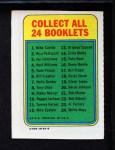 1970 Topps Booklets #9  Bobby Murcer  Back Thumbnail