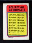 1970 Topps Booklets #13  Orlando Cepeda  Back Thumbnail