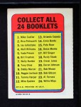 1970 Topps Booklets #4  Walt Williams  Back Thumbnail