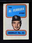 1970 Topps Booklets #23  Al Ferrara  Front Thumbnail