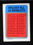 1970 Topps Booklets #21  Bob Moose  Back Thumbnail
