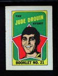 1971 Topps O-Pee-Chee Booklets #21  Jude Drouin  Front Thumbnail