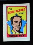 1971 Topps O-Pee-Chee Booklets #6  Henri Richard  Front Thumbnail