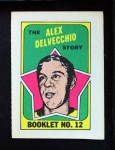 1971 Topps O-Pee-Chee Booklets #12  Alex Delvecchio  Front Thumbnail