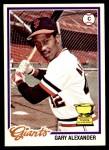 1978 O-Pee-Chee #72  Gary Alexander  Front Thumbnail