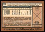 1978 O-Pee-Chee #109  Keith Hernandez  Back Thumbnail