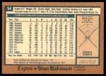 1978 O-Pee-Chee #54  Stan Bahnsen  Back Thumbnail