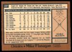 1978 O-Pee-Chee #231  Mike Flanagan  Back Thumbnail