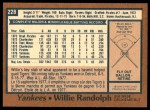 1978 O-Pee-Chee #228  Willie Randolph  Back Thumbnail