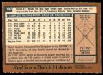 1978 O-Pee-Chee #187  Butch Hobson  Back Thumbnail