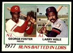 1978 O-Pee-Chee #3   -  George Foster / Larry Hisle RBI Leaders   Front Thumbnail