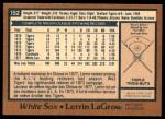 1978 O-Pee-Chee #152  Lerrin LaGrow  Back Thumbnail