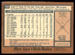 1978 O-Pee-Chee #148  Bob Bailor  Back Thumbnail