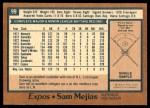 1978 O-Pee-Chee #99  Sam Mejias  Back Thumbnail
