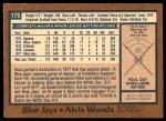 1978 O-Pee-Chee #175  Alvis Woods  Back Thumbnail
