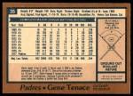 1978 O-Pee-Chee #35  Gene Tenace  Back Thumbnail