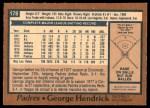 1978 O-Pee-Chee #178  George Hendrick  Back Thumbnail