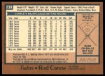 1978 O-Pee-Chee #230  Rod Carew  Back Thumbnail