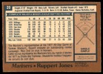 1978 O-Pee-Chee #20  Ruppert Jones  Back Thumbnail