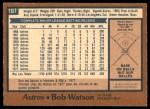 1978 O-Pee-Chee #107  Bob Watson  Back Thumbnail