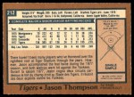1978 O-Pee-Chee #212  Jason Thompson  Back Thumbnail