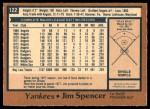 1978 O-Pee-Chee #122  Jim Spencer   Back Thumbnail
