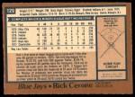 1978 O-Pee-Chee #129  Rick Cerone  Back Thumbnail