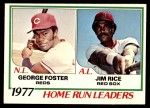 1978 O-Pee-Chee #2   -  George Foster / Jim Rice HR Leaders  Front Thumbnail