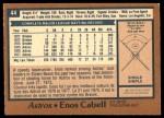 1978 O-Pee-Chee #44  Enos Cabell  Back Thumbnail