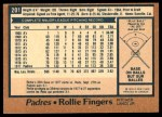 1978 O-Pee-Chee #201  Rollie Fingers  Back Thumbnail