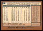 1978 O-Pee-Chee #47  Lee May  Back Thumbnail