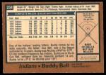 1978 O-Pee-Chee #234  Buddy Bell  Back Thumbnail