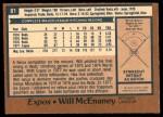 1978 O-Pee-Chee #81  Will McEnaney  Back Thumbnail