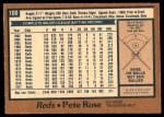 1978 O-Pee-Chee #100  Pete Rose  Back Thumbnail