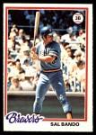 1978 O-Pee-Chee #174  Sal Bando  Front Thumbnail