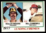 1978 O-Pee-Chee #8   -  Rollie Fingers / Bill Campbell Leading Firemen Front Thumbnail