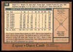 1978 O-Pee-Chee #18  Dave Cash  Back Thumbnail
