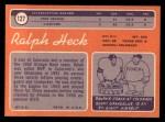 1970 Topps #127  Ralph Heck  Back Thumbnail