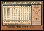 1978 O-Pee-Chee #48  Roy White  Back Thumbnail