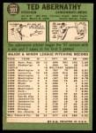 1967 Topps #597  Ted Abernathy  Back Thumbnail