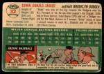 1954 Topps #32  Duke Snider  Back Thumbnail