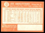 1964 Topps #451  Joe Amalfitano  Back Thumbnail