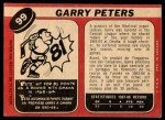 1968 O-Pee-Chee #99  Garry Peters  Back Thumbnail