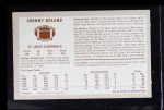 1970 Kellogg's #44  Johnny Roland  Back Thumbnail