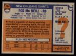 1976 Topps #294  Rod McNeill   Back Thumbnail