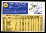1970 Topps #164  Ty Cline  Back Thumbnail
