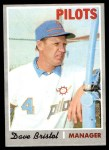 1970 Topps #556  Dave Bristol  Front Thumbnail