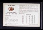 1970 Kellogg's #57  Ed Meador  Back Thumbnail