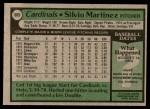 1979 Topps #609  Silvio Martinez  Back Thumbnail